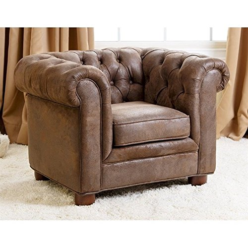 Abbyson Living RJ Kids Mini Fabric Chesterfield Club Chair in - Kids Chesterfield