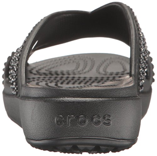 Infradito Sloane Nero Crocs Embellished Sandali Xstrap Donna xInnA4q