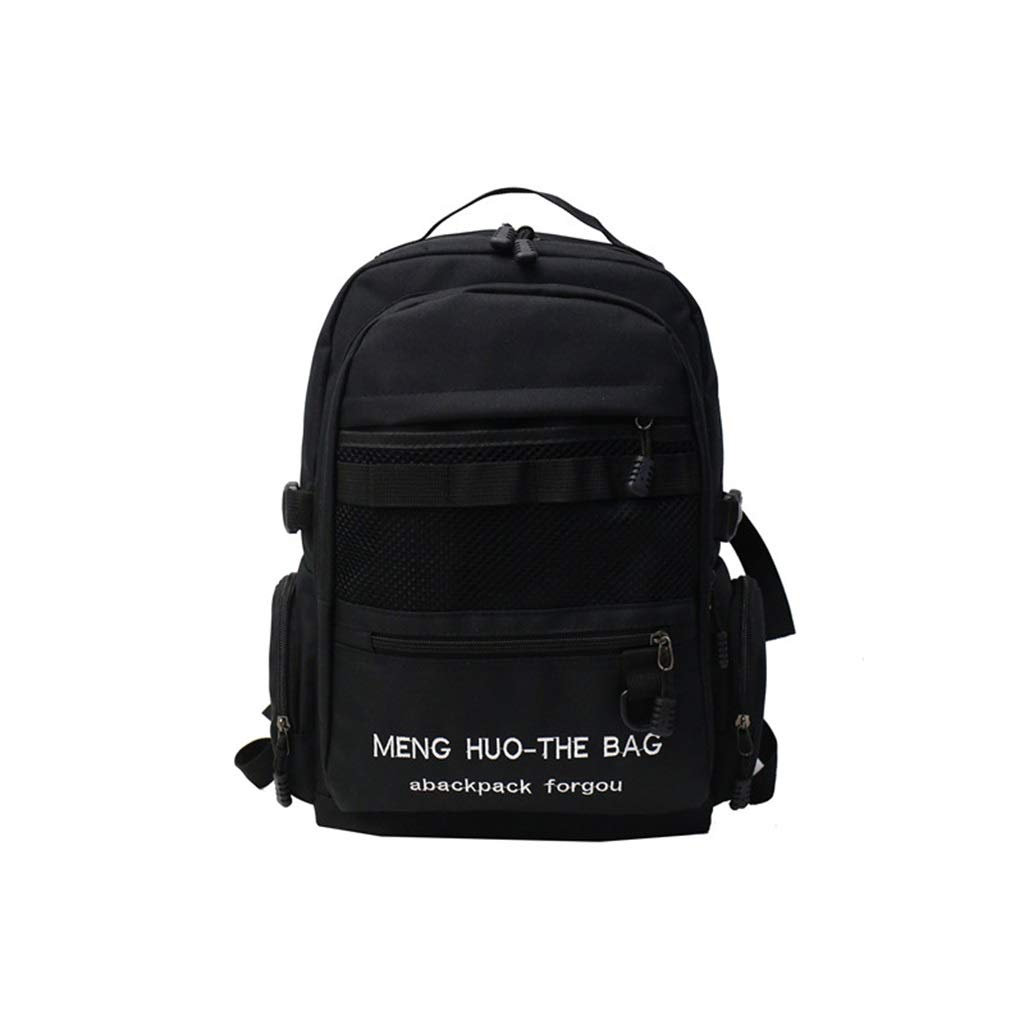 Black 29x10x42cm QRFDIAN Backpack junior high school student bag backpack black bluee pink red bag Oxford cloth Fabric (color   Pink, Size   29x10x42cm)