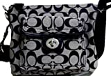 Coach Signature Swingpack Crossbody Bag, Style 45026 Black White, Bags Central