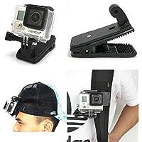 osierr6 Mochila giratoria de 360 Grados para GoPro Hero 2 3 3+ Sony Action CAM HDR-AS200V AS100V AS30V AS20V AZ1 FDR-X1000VR/AEE Cámara/Xiaomi XiaoYi