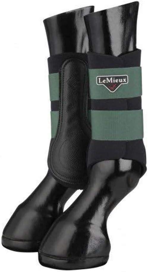 LeMieux Grafter Brushing Boot Hunter Green Horse