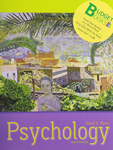 Psychology (loose leaf) and Study Guide (Budget Books)