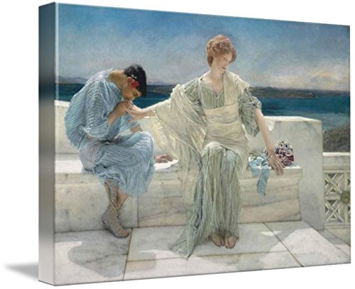 Lawrence Outdoor Wall (Wall Art Print entitled Lawrence Alma-Tadema, Ask Me No More by Celestial Images | 48 x 33)