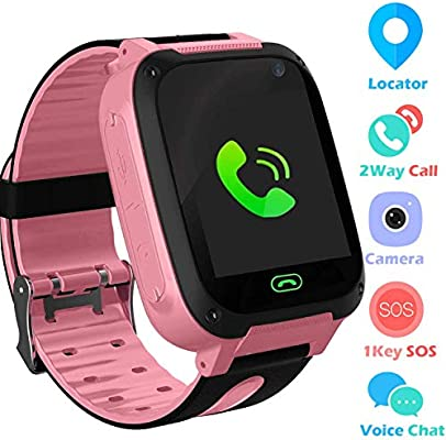 Jslai Niños Smartwatch Relojes,LBS Tracker Telefono de Alarma SOS ...
