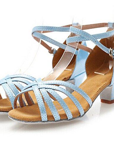 La mode moderne de danse pour enfants Sandales Chaussures sandales talon bas similicuir,rose/bleu/bleu clair,US4.5 UK3.5 UE36/Big Kids