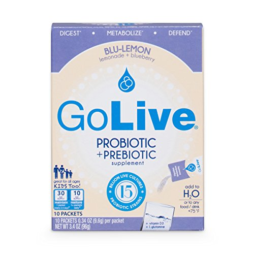 Golive Citrus Probiotic and Prebiotic Supplement Blend, Blueberry and Lemonade, 10-Count -  BG13669