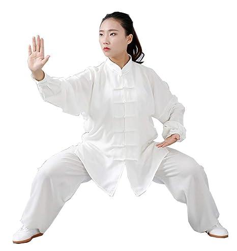 Ropa de Uniforme de Tai Chi Mujeres Hombres Ropa de Wushu ...