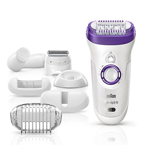 Braun Silk-épil 9 9-579 Women's Epilator, Electric Hair Removal, Wet & Dry, with Electric Razor - Bonus Edition (Silk 9)