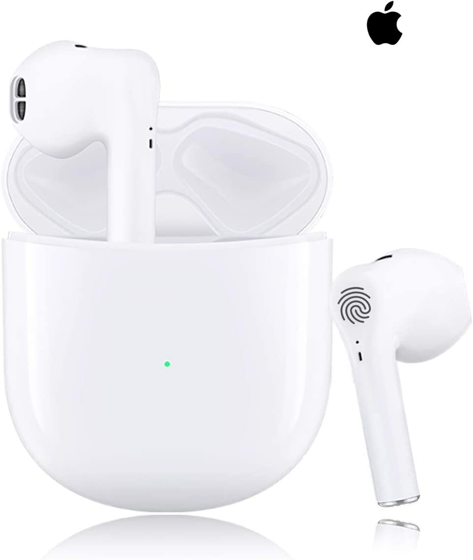 Wireless Headphones Bluetooth 5.0 Wireless Ear Buds Built in Mic in Ear Buds Noise Cancelling Earphones with Charging Case Touch Control Sport Headsets for Apple/iPhone/Android/Samsung