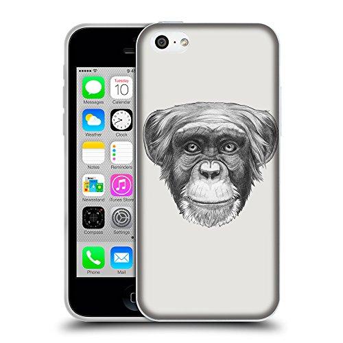 GoGoMobile Coque de Protection TPU Silicone Case pour // Q05170631 Dessin singe Platine // Apple iPhone 5C