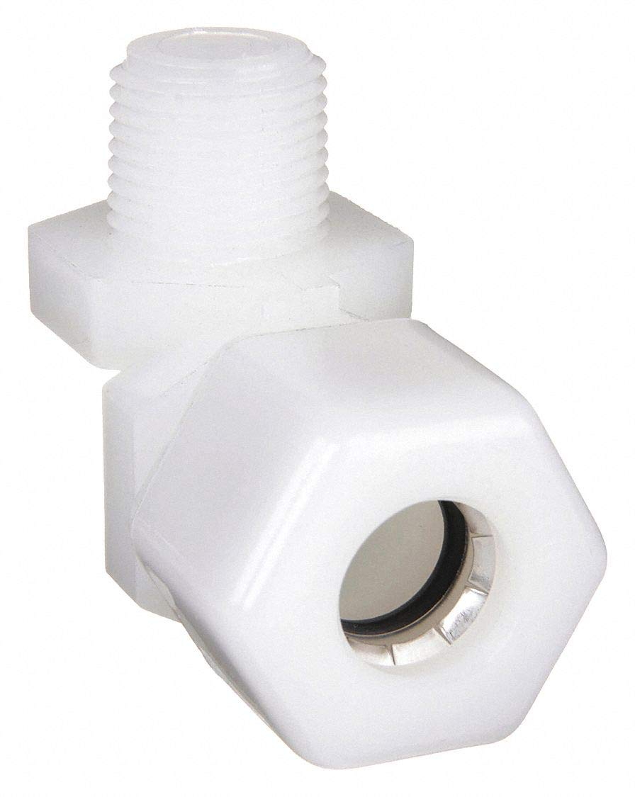 White 1//2 Hose Barb x 1//4 Male NPT Parker Hannifin 329HB-8-4N Par-Barb Nylon Male Elbow Fitting 90 Degree Angle