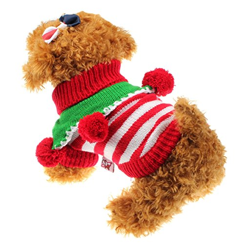 Bessky(TM) 2015 Fashion Winter Comfortable Pet Dog Cat Clothes Sweater (M, Red)