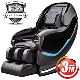 Massage Chair Recliner, Zero Gravity SL-Track Full Body Shiatsu Luxurious Electric Massage Chair with Stretched Tapping Mode Heating Back and Foot Massage Therapy (Black) …