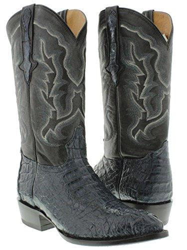 El Presidente - Men's Blue Genuine Crocodile Hornback Leather Cowboy Boots J Toe 14 E