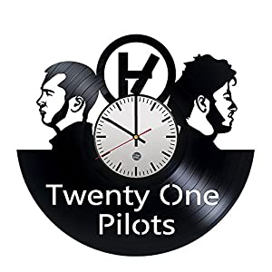 Twenty One Pilots Vinyl Record Wall Clock - Decorate your living room with Modern Art - Best vintage gift for men and boys