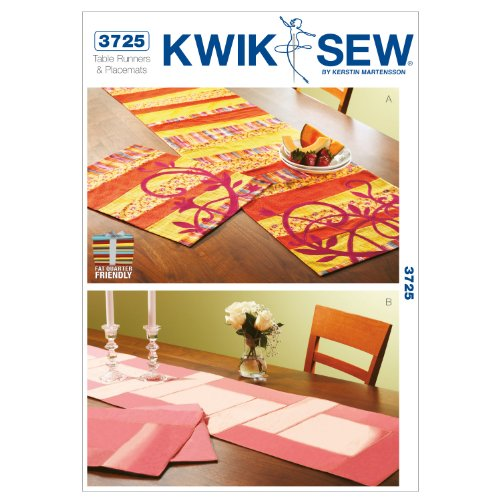 Kwik Sew K3725 Table Runners and Placemats Sewing Pattern, No Size