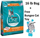 Purina ONE Healthy Metabolism Adult Premium Cat Food (6 Bag - 16 lb. + Free Toy)