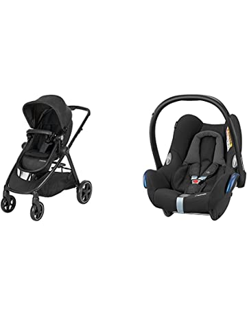 Maxi-Cosi Zelia 2-1 Pushchair with Cabriofix R44/04 Car Seat, Nomad Black (Black Frame)