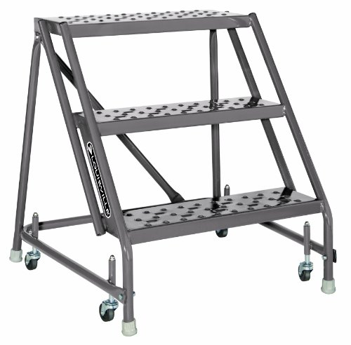 Louisville Ladder GSW2403 Rolling Warehouse Ladder with 24-Inch Step Width, 30-Inch Platform Height, (Louisville Rolling Ladders)