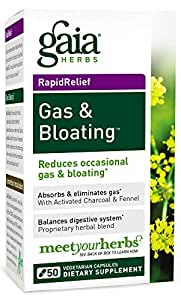 amazon com gaia herbs gas and bloating dietary supplement capsules