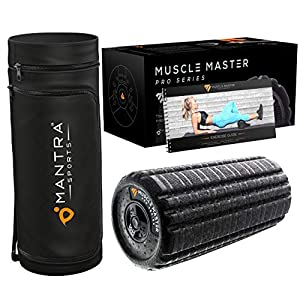 Deep Tissue Vibrating Foam Roller for Physical Therapy & Exercise | Back Stretcher & Body Massager for Self-Myofascial Joint Release, Trigger Point Muscle Therapy, Stress Relief Massage | Men & Women