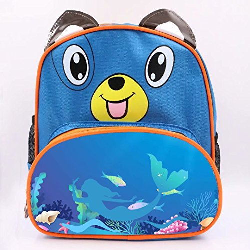 XheHe Children's Dancing Mermaid SchoolBag Kids Toddler Backpack Carrying Lunch Bags Boy/Girl Dog (30h Pearl)