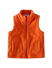 Little Spring Kids' Fleece Vests Zipper Solid for 2-8 Years Old