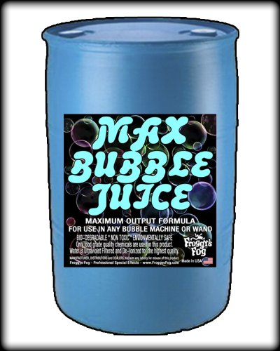 55 Gal - MAX Bubble Juice Fluid - 10x the Bubbles from Standard Machines by Froggys Fog