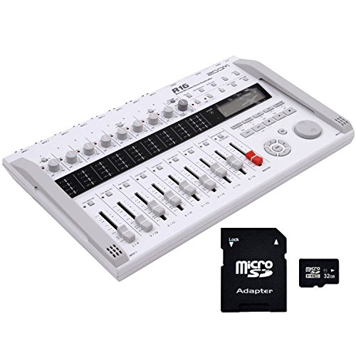 Zoom R16 Multi-Track Recorder Interface Controller with EV Music 32gb SD Card