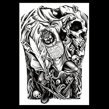 HXMAN Impermeable Tatuaje Temporal Super Grande De La Espalda ...