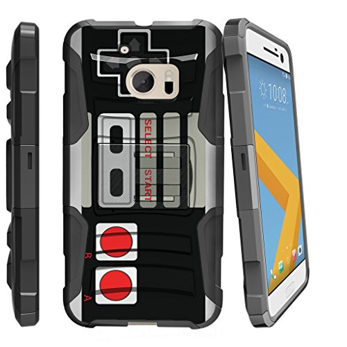 MINITURTLE Case Compatible w/ HTC One M10 Heavy Duty Case| Lifestyle Design Case [Clip Armor] Premium Heavy Duty Shooproof Case w/ Stand and Holster Game ()