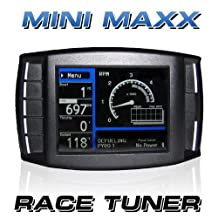 Mini Maxx 109003 for Dodge Cummins UNLOCKED DPF & EGR Delete Race Tuner w/gauges, No pyrometer included