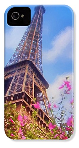 Iphone 4 Slim Case  Eiffel Tower In Spring  By Pixels
