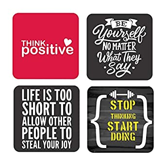 yaya cafe new year gifts think positive motivational quotes wooden