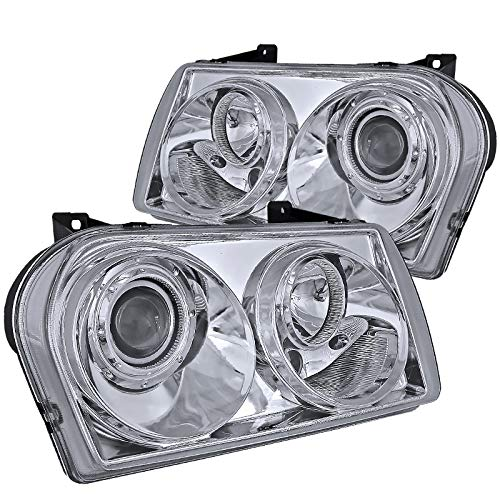 (Spec-D Tuning LHP-30005-TM Chrysler 300 Touring Limited Lx S Base, Chrome Clear Projector Headlights )