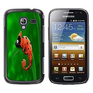 Caucho caso de Shell duro de la cubierta de accesorios de protección BY RAYDREAMMM - Samsung Galaxy Ace 2 I8160 Ace II X S7560M - Cute Funny Chameleon Ladybug
