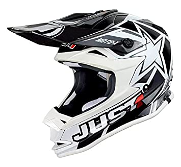JUST1 J32 Pro – Casco para moto x, blanco, tamaño 48-ys