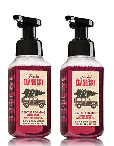 (Bath & Body Works Frosted Cranberry Hand Soap - Pack of 2 Frosted Cranberry Gentle Foaming Holiday Hand Soaps)