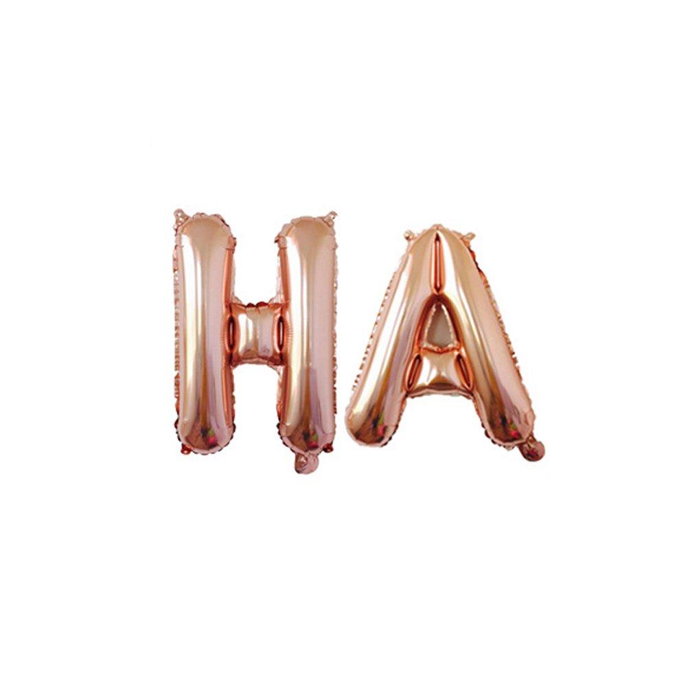 BESTOYARD Globos de papel de fiesta hawaiano ALOHA Globo de Mylar met/álico Decoraciones de fiesta de Hawaiian Luau Tropical oro rosa