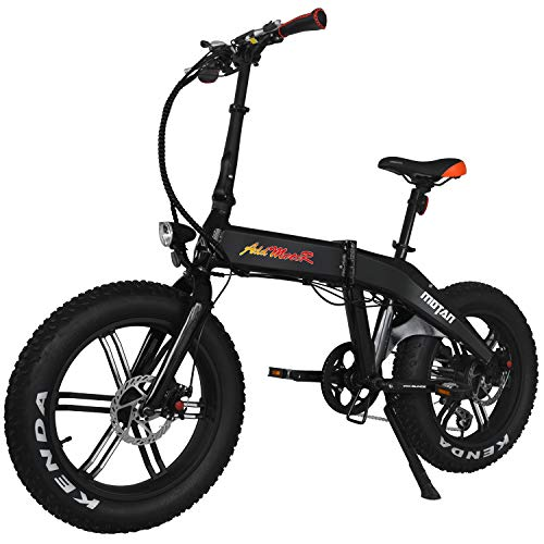 Addmotor MOTAN Electric Bike 750W 11.6AH Battery Foldable Ebikes 20 Inch Fat Tire Integral Wheel M-160 R7 Electric Bicycle (Black)