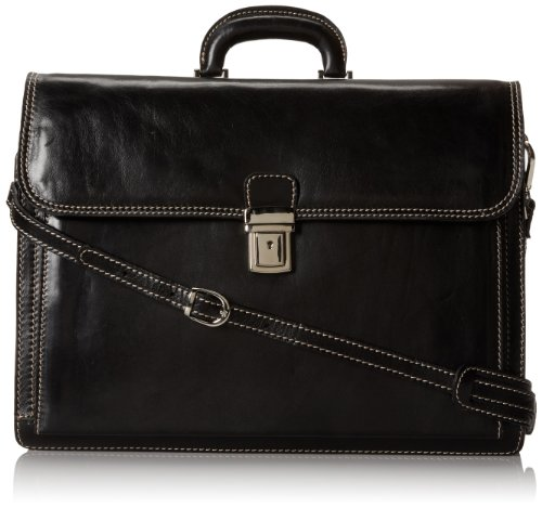 Floto Luggage Firenze Brief, Black, Large by Floto