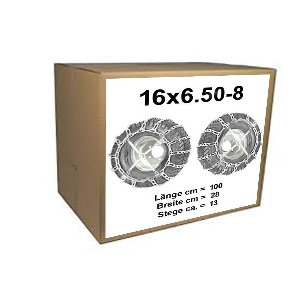 Schneeketten+Spanner fü r Rasentraktor Aufsitzmä her 16x6.50-8 16 x 6.50-8 und 165/60-8 170/60-8 vsk