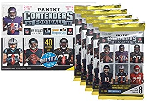 2017 NFL Panini Contenders Football Cards Factory Sealed Blaster Box - 1 Autograph or Memorabilia Per Box
