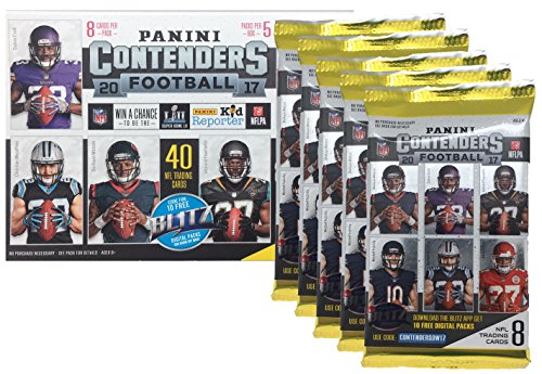 Quad Autograph - 2017 NFL Panini Contenders Football Cards Factory Sealed Blaster Box - 1 Autograph or Memorabilia Per Box