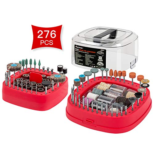 Avid Power 276 PCS Rotary Tool Accessories Kit, Universal Fitment for Easy Cutting, Grinding, Sanding, Sharpening, Carving and Polishing (Best Dremel Accessory Kit)