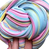Becoler Colorful Fluffy Floam Slime Stress Reliever Autistic ADHD Toys
