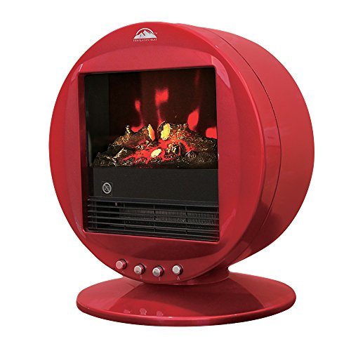 Cheap Himalayan glow HH-2001R Rotatable Electric Fireplace Heater Red Himalayan 1500W Electric Fireplace Heater comforts of home living room and study room with Auto-temperature adjustment Black Friday & Cyber Monday 2019
