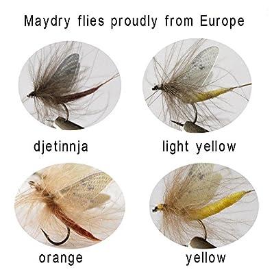 Riverruns Realistic Flies May fly Dry Flies Colors Trout UV Super Sturdy flies
