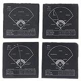 Greatest Mets Plays - Slate Coasters